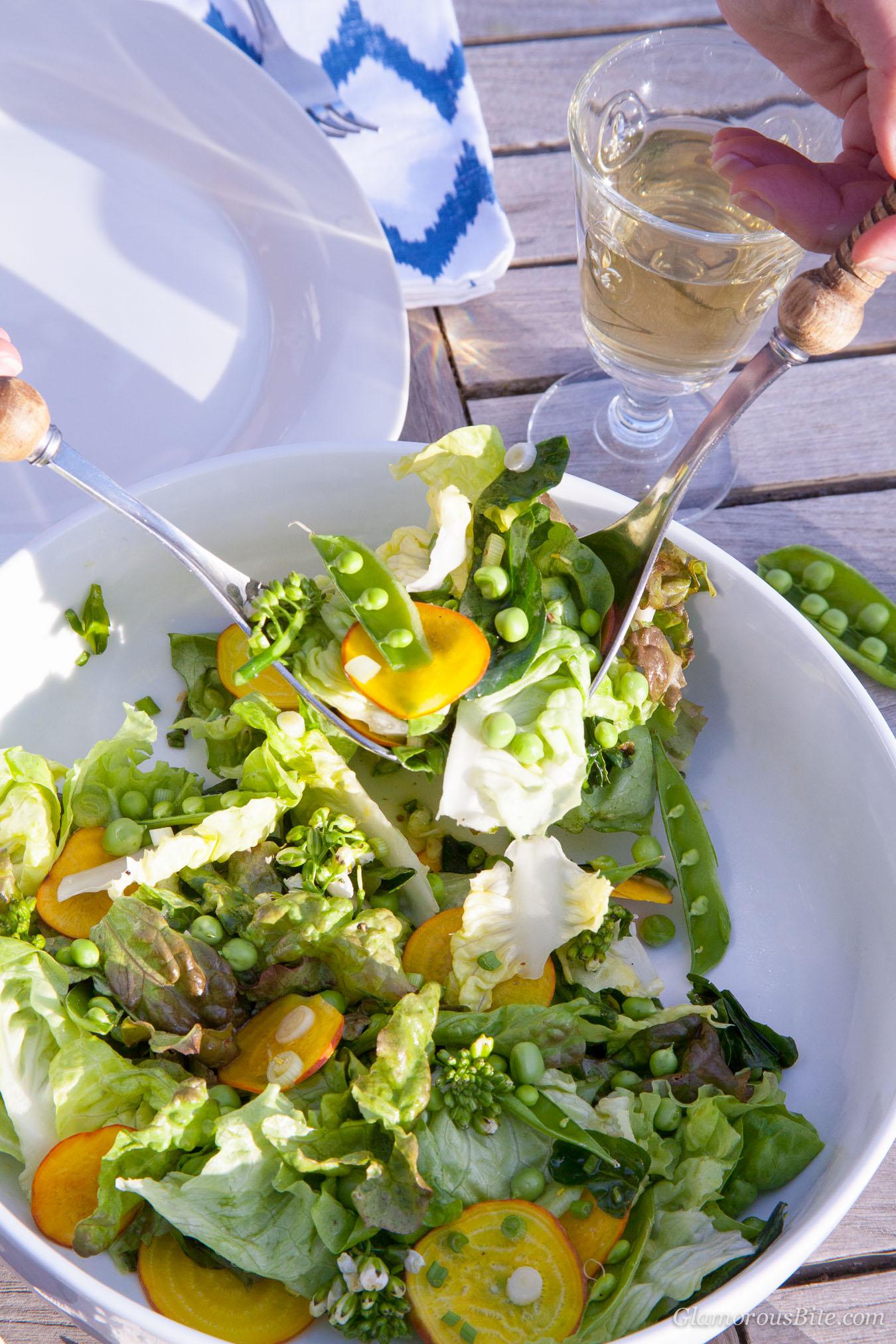 Farmers MArket Spring Salad Snap Peas