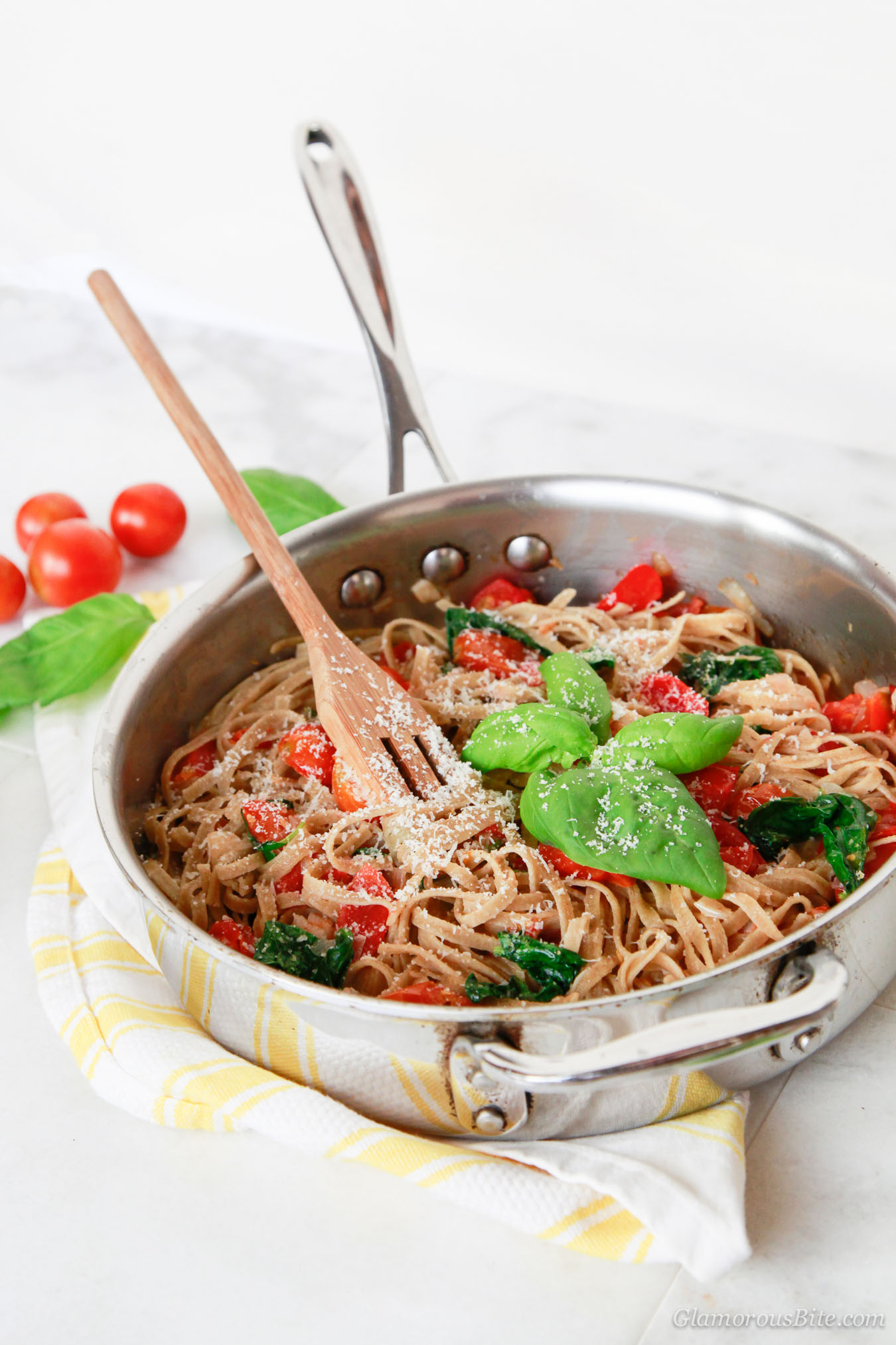 Recipe Whole Wheat Pasta Tomato Spinach Recipe