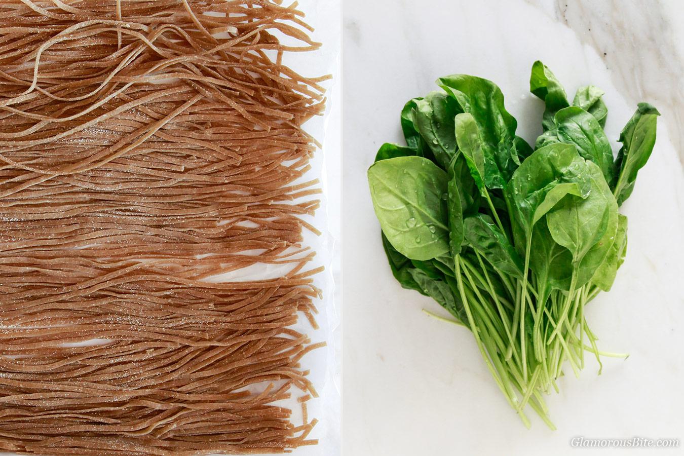 Whole-wheat Pasta Whole Grain Pasta Spinach