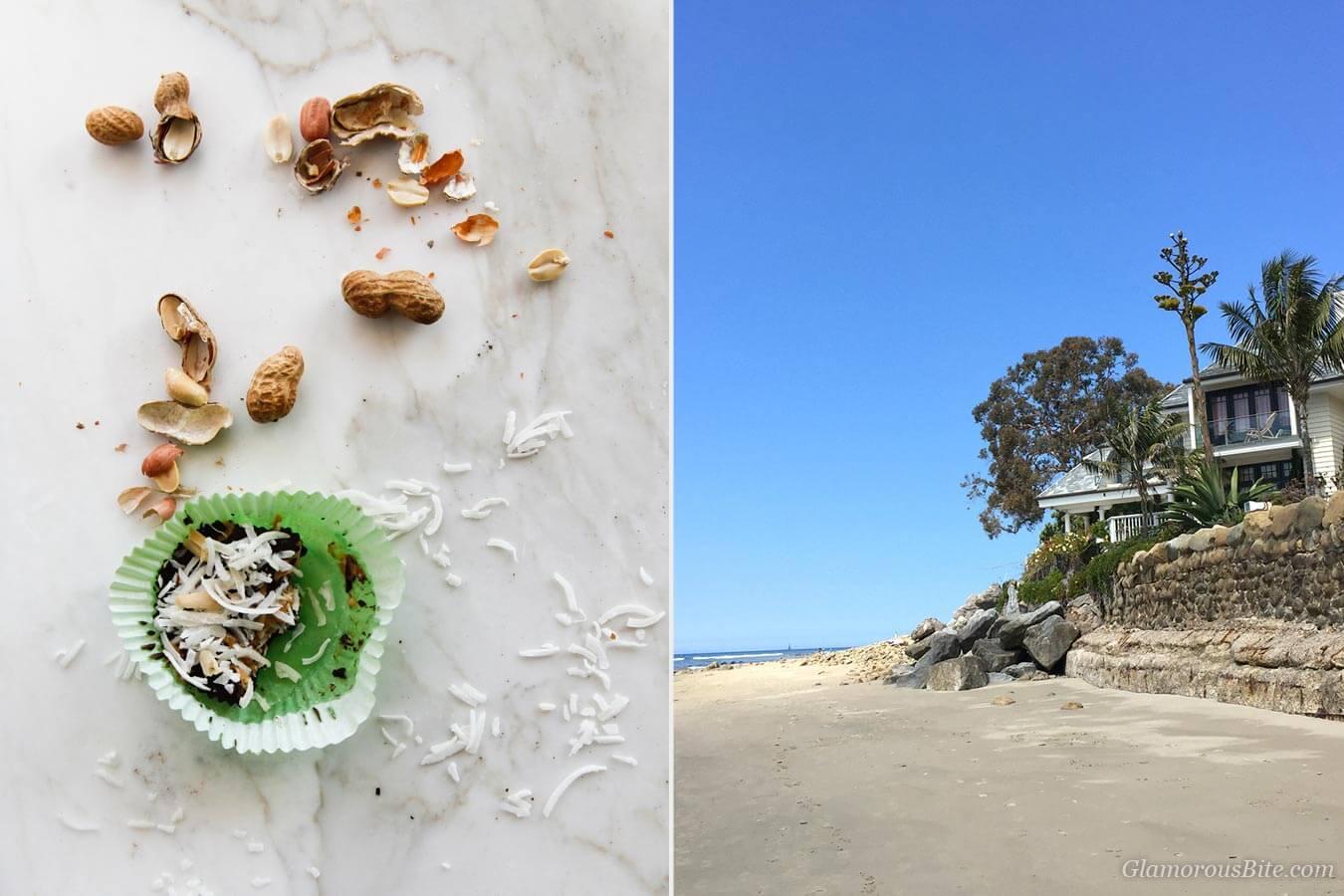 Chocolate Coconut Peanut Butter Cups and Montecito coast