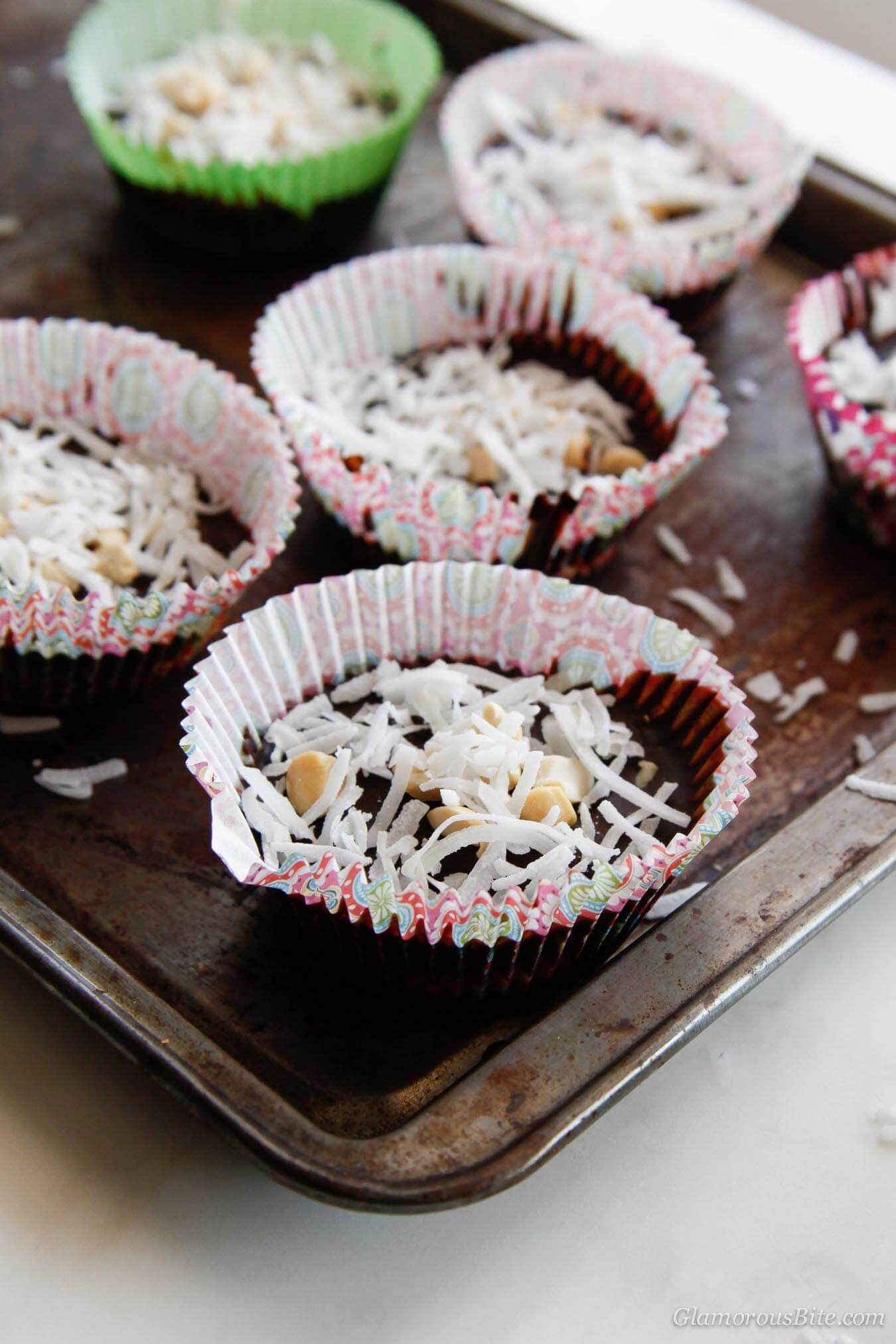 Gluten-Free Chocolate Coconut Peanut Butter Cups recipe
