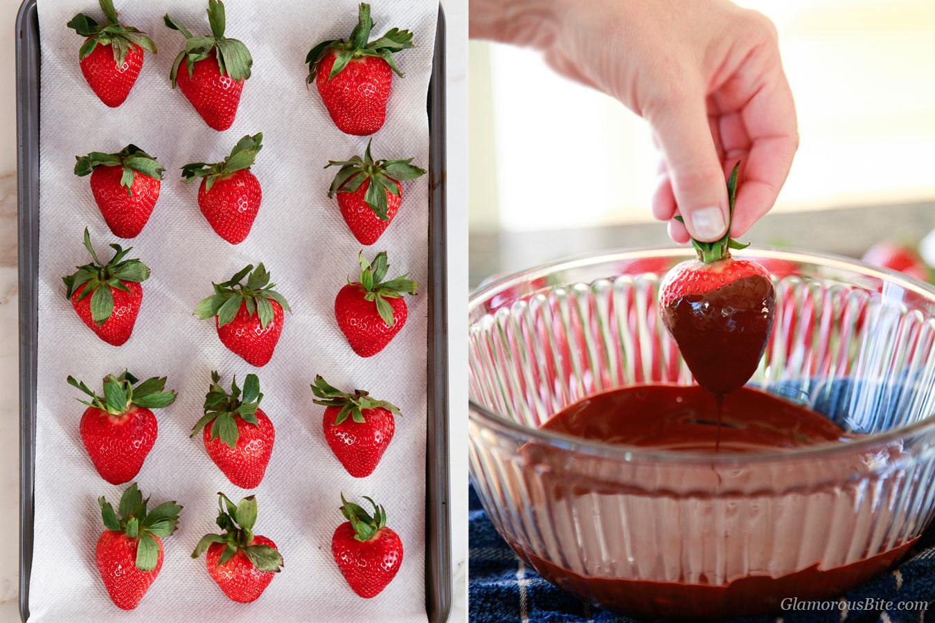 How to dip strawberry into chocolate