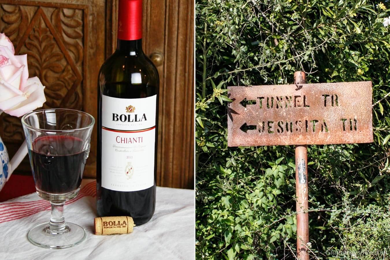 Bolla Wine & Tunnel Trail Jesusita Trail sign